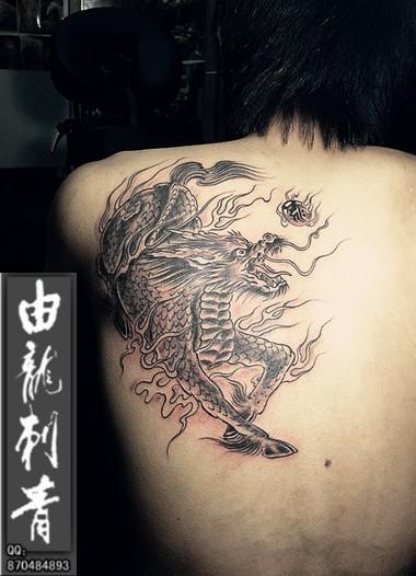 烈火麒麟纹身图案男分享展示图片