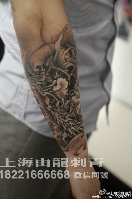 手臂龙纹身图案第1张图片