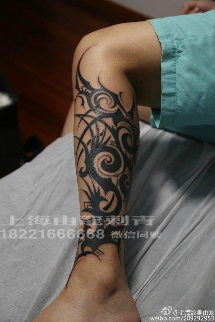 小腿雅图腾纹身手稿分享展示