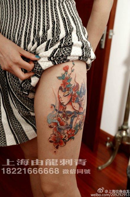女生大腿纹身图案 大腿纹身图案大全女生 大腿纹身手稿图案大全图片