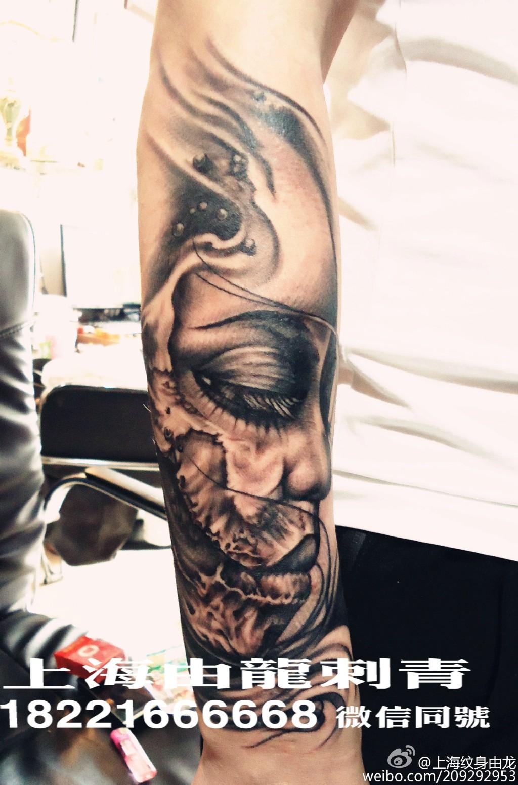 手臂图形纹身分享展示
