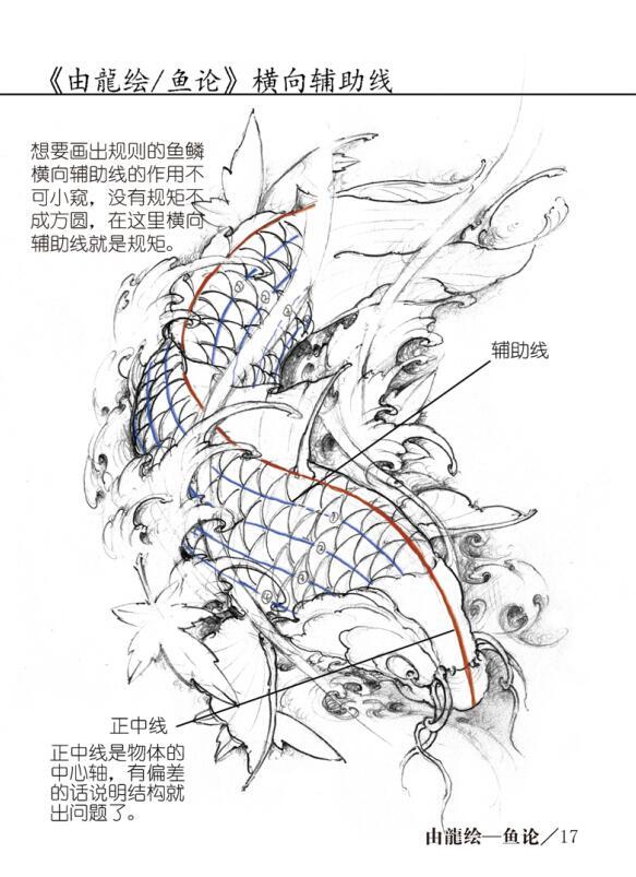 龙画法_由龙手稿_上海由龙刺青