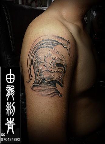 西方战士纹身的意义图片