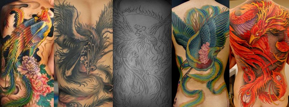 浦东纹身|凤凰纹身图案|凤凰纹身寓意