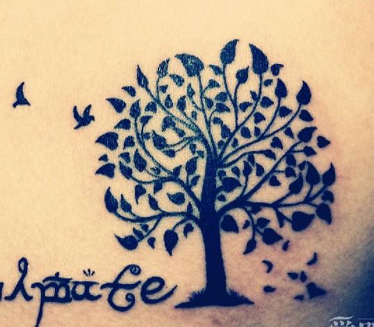 树纹身图案