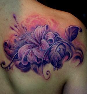浦东纹身|百合花纹身|百合花纹身图案