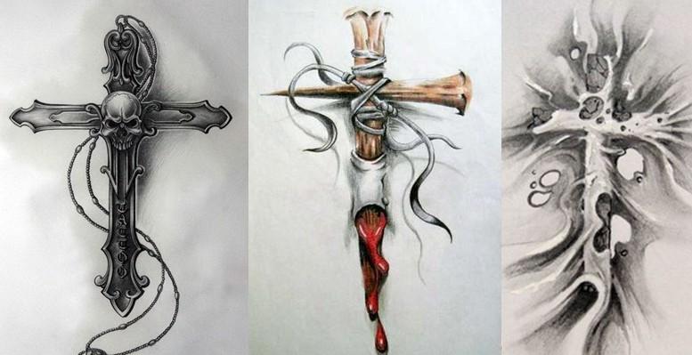 即使你不是一个基督教徒也可以选择十字架纹身