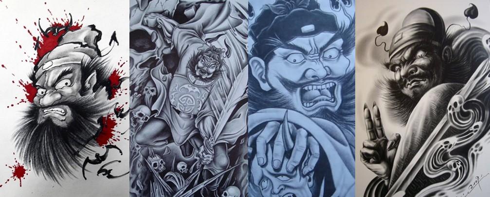 浦东纹身|钟馗纹身|钟馗纹身寓意