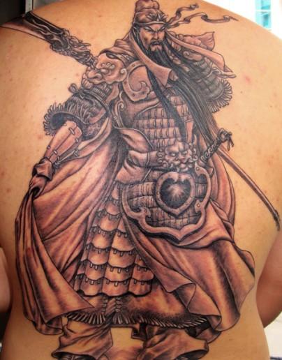 上海纹身|关公纹身|关公纹身图案