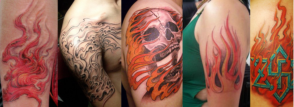 上海纹身|火焰纹身|火焰纹身寓意|火焰纹身图案