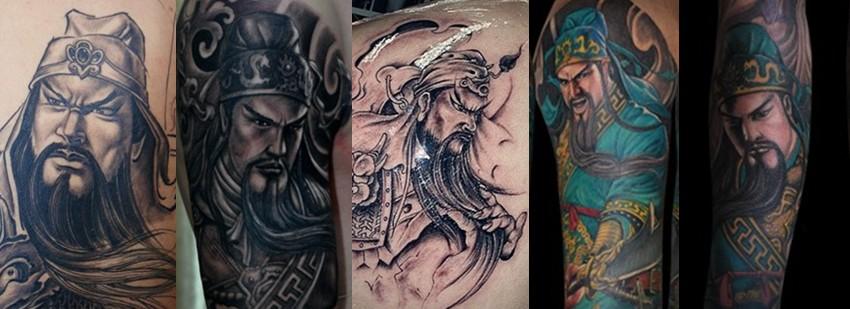 浦东纹身|关公纹身|关公纹身图案|关公纹身寓意