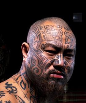 纹面人|中国纹身的发展标志