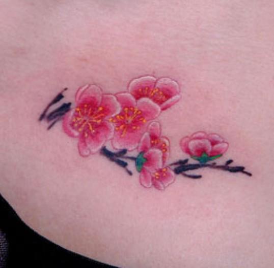 浦东纹身|桃花纹身|桃花纹身图案