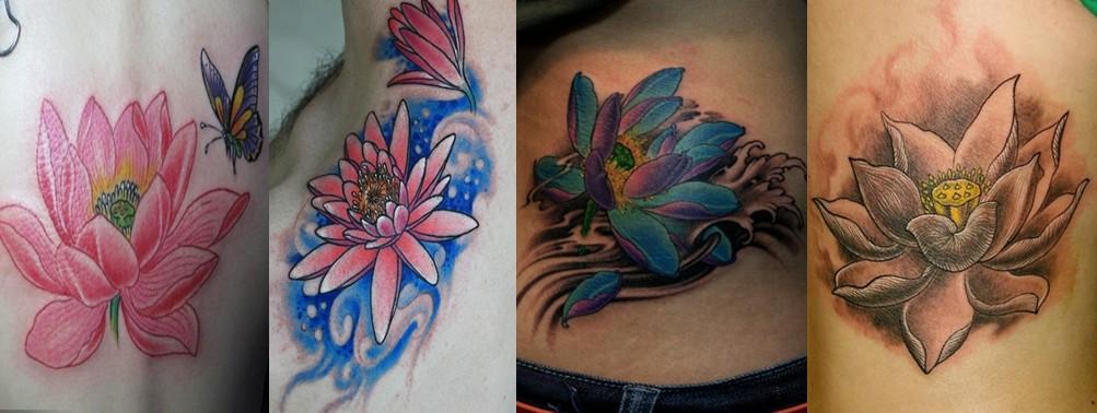 浦东纹身|花卉纹身|莲花纹身图案